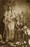 Charley Buck, or Sapiah, was born to an Apache mother and a Mouache Ute father in 1840. He married Te-Wee, also known as Emma Buck.