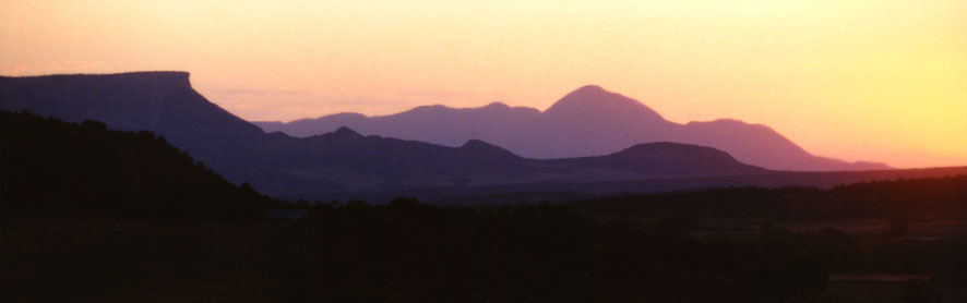Sleeping Ute Mountain and Mesa Verde