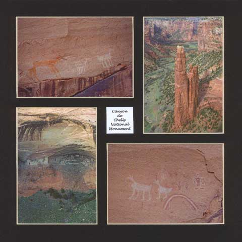 4 photos of Canyon de Chelly National Monument