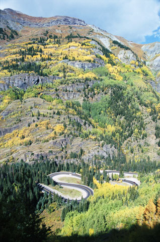Million Dollar Highway between Silverton and Ouray